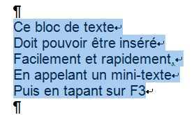 insérer sommaire word 2010