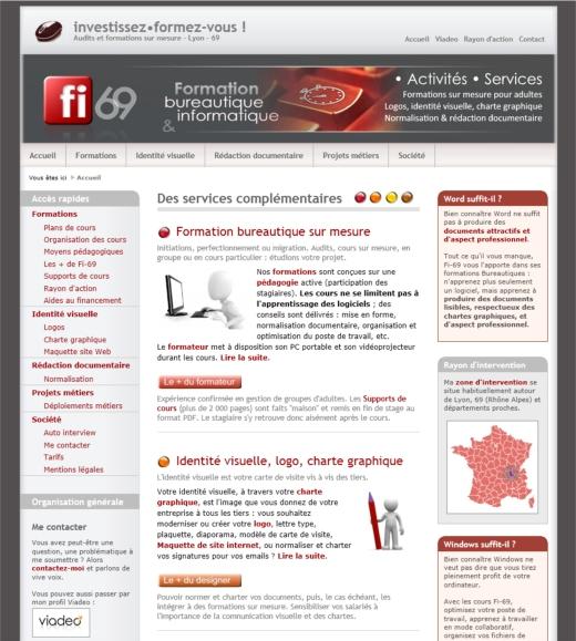 874f71574c3e32 Maquette site Web - Identité visuelle